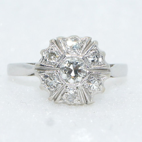 Women's White Gold Diamond Ring