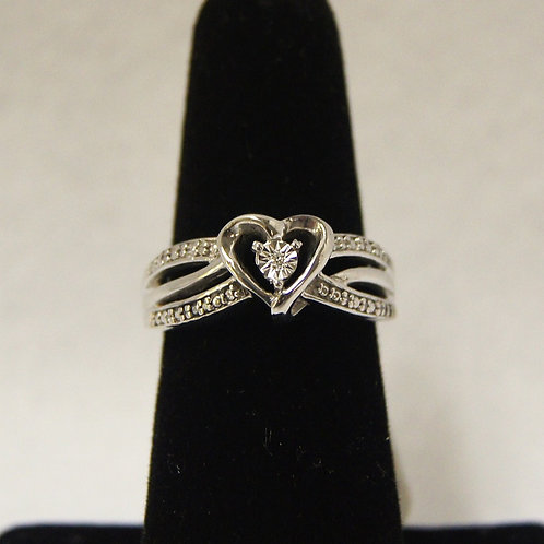 Women's Sterling Silver Heart Ring