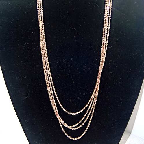 Unisex Rose Gold Rope Chain