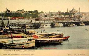 Le Pont de Karakeui, Constantinople. 1900s