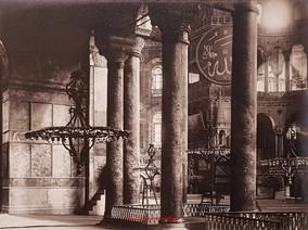 Ste Sophie les colonnes a l'interieur. 1890s