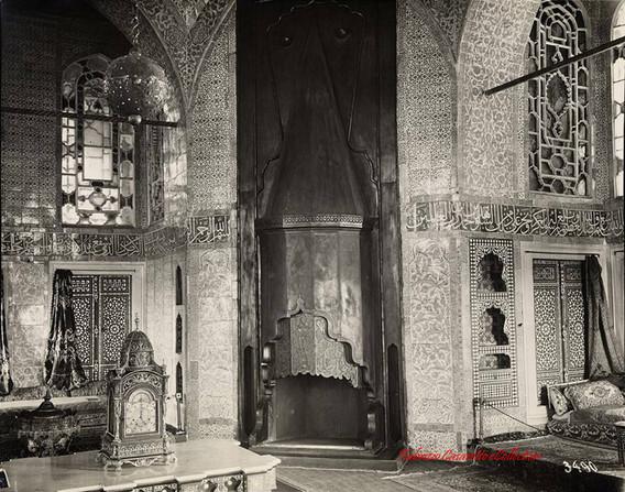 Interieur du Palais Topkapi avec decor 3490. 1890s