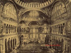 Interieur de Ste Sophie 127. 1890s