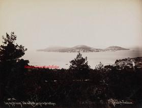 Iles des Princes. Vue de Halki, prise de Prinkipo 11. 1890s
