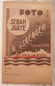 Enveloppe SEBAH JUAYE 1930s