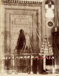 Interieur de la mosquee Verte le mihrab. Brousse 86. 1890s
