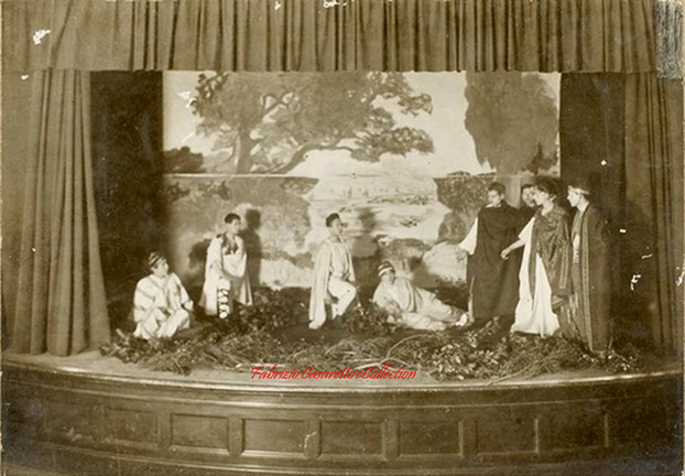 Scene de theatre de Rome. 1890s
