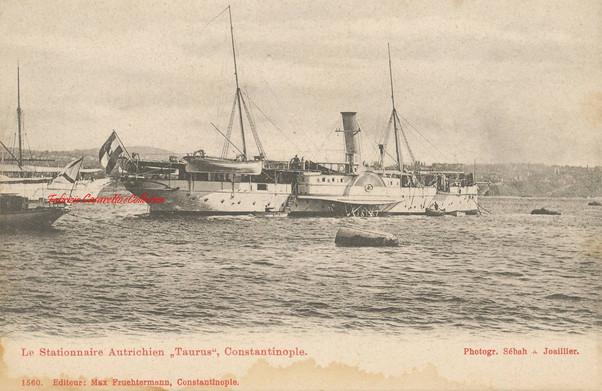 Le stationnaise Autrichien Taurus, Constantinople. 1890s