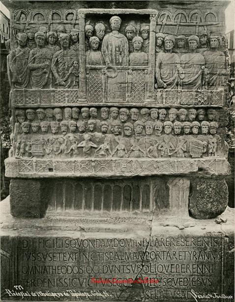 Piedestal de l'Obelisque de Theodose. Cote N 177. 1880s