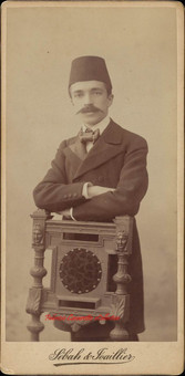Homme moustachue. 1890s