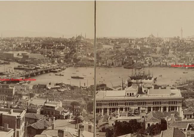 Vue panoramique du Bosphore et de la Corne d'Or. 1890s  (rare)