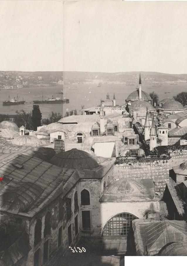 Mini panorama. Vue de l'entree du Bosphore prise du Palais de Topkapi 3129-3130. 1900s