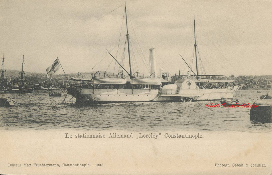Le stationnaise Allemand Lorely Constantinople. 1890s