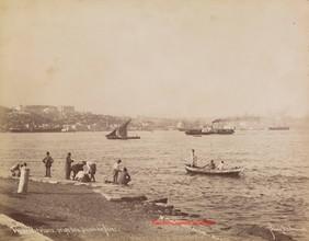 Vue du Bosphore, prise de la pointe du Serai 326. 1890s