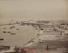 Vue du Port, prise du Nord. Smyrne 3. 1890s