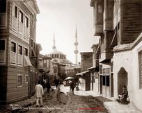 Quartier Turc a Scutari et vue de la Mosquee Valide 568. 1890s