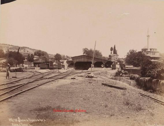 Station du Chemin de fer a Aidin (Tralles) 75. 1890