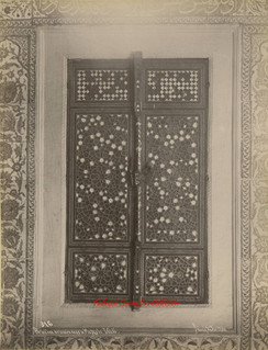 Porte d'une armoire dans la Mosquee Valide 316. 1890s
