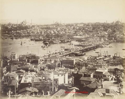 Vue panoramique de Constantinople et le pont de Galata 30. 1890s