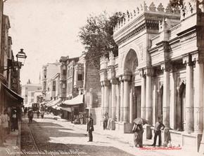 Entree et Fontaine de la Mosquee Valide a Ak Serai 169. 1890s