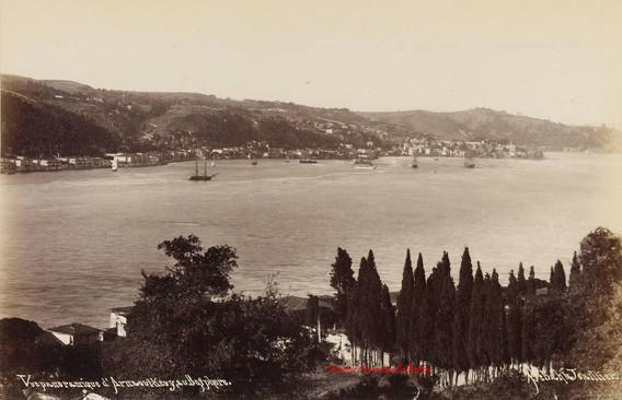Vue panoramique d'Arnaout Keuy au Bosphore. 1889