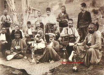 Marchand turcs devant un cafe. Brousse. 1890s