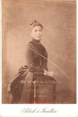 Une jeune femme. 1890s