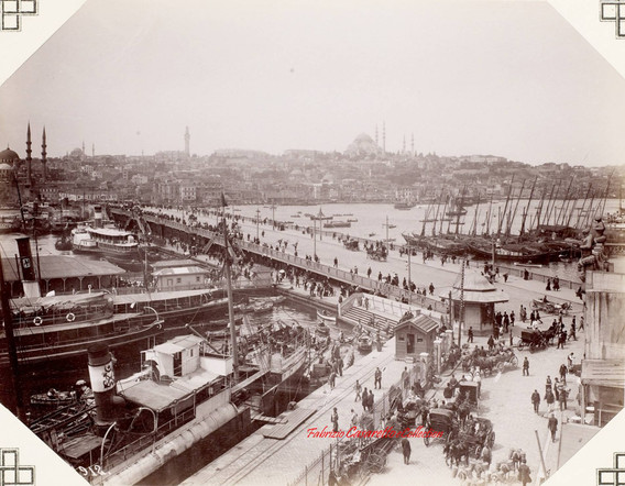 Le pont de Galata 912. 1900s