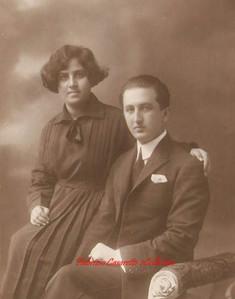 Un jeune couple. 1900s