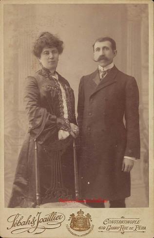 Portrait d'un couple. 1880s