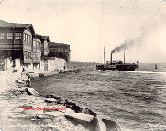 Quai de Roumeli Hissar et bateau 611. 1887