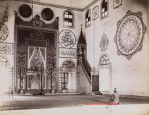 Brousse. Mosquee Yildirim Sultan Bayazed. Interieur. Le Mihrab et le Member 63. 1894