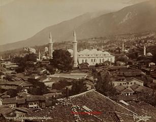 Vue panoramique de Brousse et d'Oulou Djami. 1890s