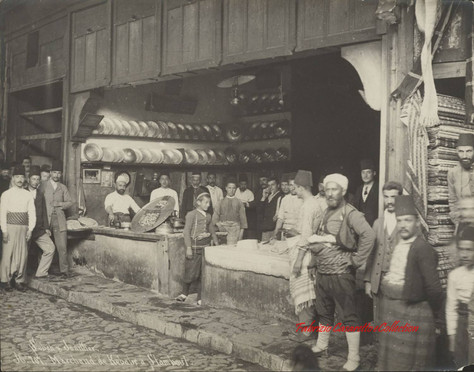 Marchand de kebabs a Stamboul 707. 1880s