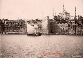 Vue des murs et de la mosquee Sultan Ahmed, prise de la mer 11. 1890s