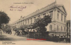 Ambassade de France a Pera. Constantinople. 1900s