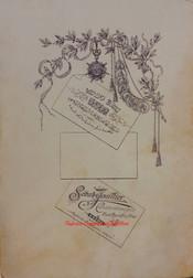 Verso photo 1885. La premiere. En Ottoman et en Francais.
