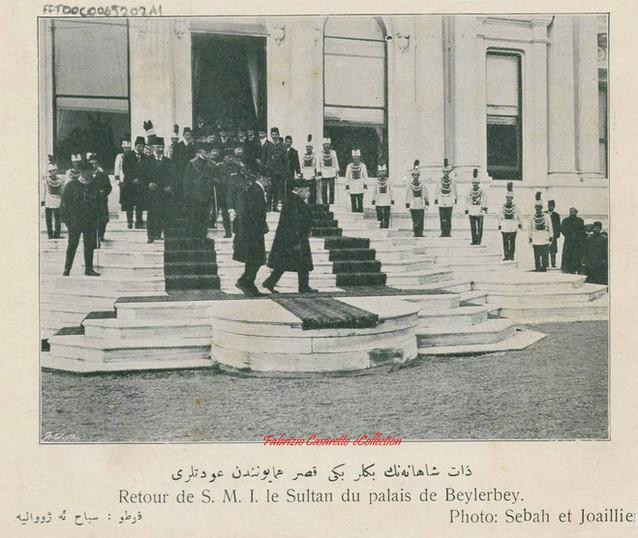 Retour de S.M.I. le Sultan du Palais de beylerbey. 1900s