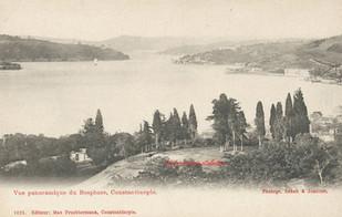 Vue panoramique du Bosphore, Constantinople. 1880s