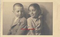 Frere et soeur. 1910s