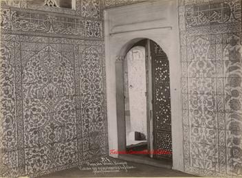 Mosquee Valide. Faiences. Entree des appartements du Sultan 314. 1890s