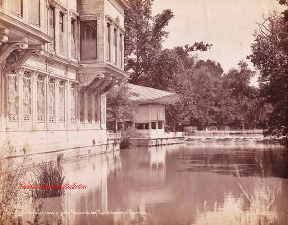 Kiosk et cascades dans le jardin Imperial des eaux douces d'Europe (Caglayan Sarayi, Kasr-i Nesad, Kagithane) 64. 1890s