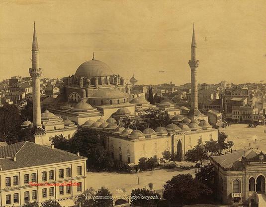 Vue panoramique de la mosquee Bayazed 110. 1890s