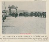 Les invites arrivant au jardin du Palais pour prendre part au banquet imperial. 1900s