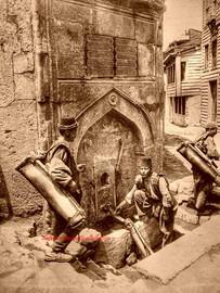 Fontaine et groupe de porteur d'eau (Fontaine Abdullah Aga) 399. 1890s