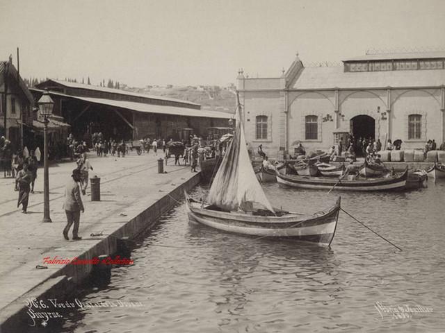 Vue du Quai et de la Douane. Smyrne 6. 1890