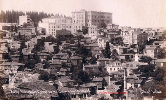 Vue des Ambassades d'Allemagne et d'Italie et maisons turques 427. 1890s