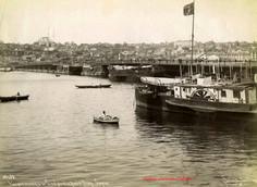Vue panoramique de Constantinople et le Pont d'Azap Capou 39. 1887