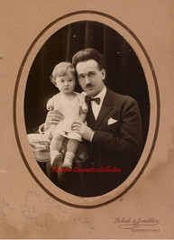 Un papa et sa fille. 1900s