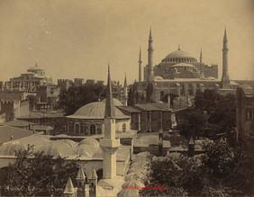 Mosquee, Ste Sophie, Ste Irene, vue des Tours. 1892